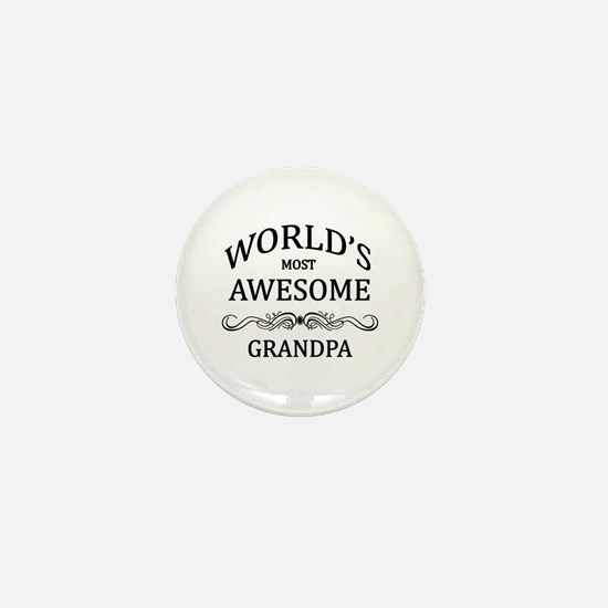 World's Most Awesome Grandpa Mini Button