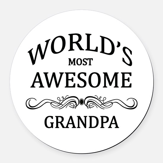 World's Most Awesome Grandpa Round Car Magnet