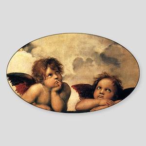 Angels by Raphael, Vintage Renaissa Sticker (Oval)