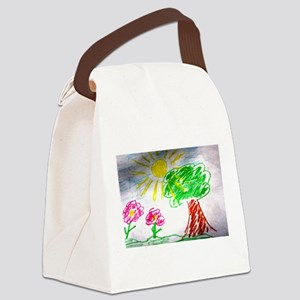 Childs Drawing Canvas Lunch Bag
