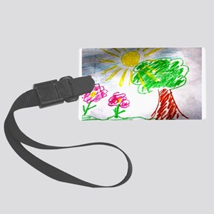 Childs Drawing Luggage Tag
