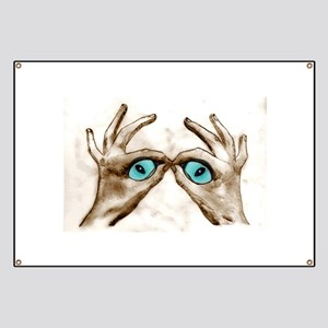 Hand Shaped Eyes Banner