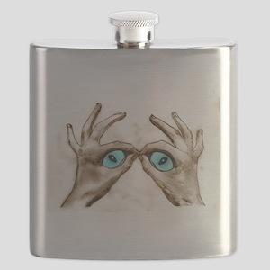 Hand Shaped Eyes Flask