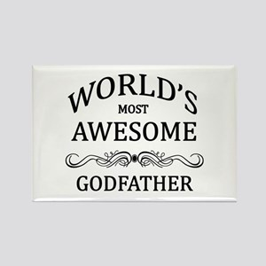 World's Most Awesome Godfather Rectangle Magnet