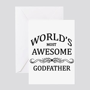 Worlds Most Awesome Godfather Greeting Card