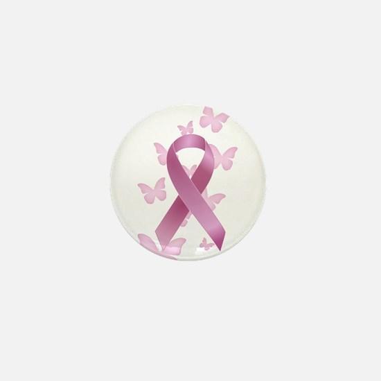 Pink Awareness Ribbon Mini Button
