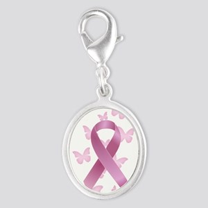 Pink Awareness Ribbon Charms