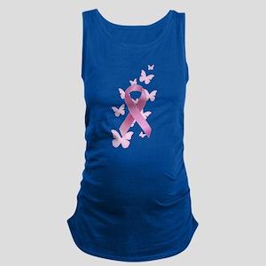 Pink Awareness Ribbon Maternity Tank Top