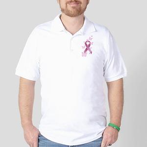 Pink Awareness Ribbon Golf Shirt