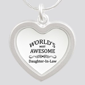 World's Most Awesome Daughter-in-Law Silver Heart