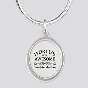 World's Most Awesome Daughter-in-Law Silver Oval N