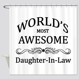 World's Most Awesome Daughter-in-Law Shower Curtai