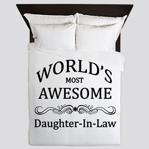 World's Most Awesome Daughter-in-Law Queen Duvet