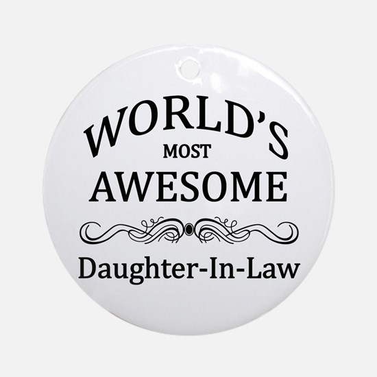 World's Most Awesome Daughter-in-Law Ornament (Rou