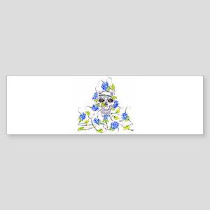 Skull with Roses Tattoo Bumper Sticker