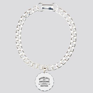 World's Most Awesome Brother Charm Bracelet, One C