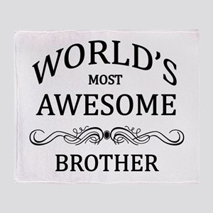 World's Most Awesome Brother Throw Blanket