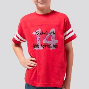 Girls Having Fun Bachelorette Youth Football Shirt