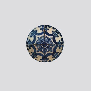 Portuguese tile de Braga Mini Button