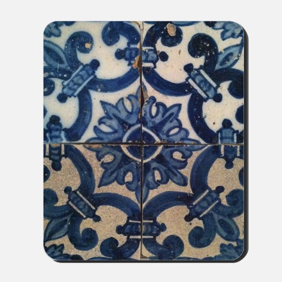 Portuguese tile de Braga Mousepad