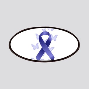 Blue Awareness Ribbon Patches