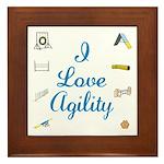 I Love Agility Framed Tile