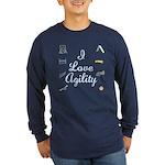 I Love Agility 2 Long Sleeve Dark T-Shirt