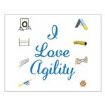 I Love Agility Small Poster