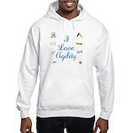 I Love Agility 2 Hooded Sweatshirt