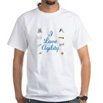 I Love Agility 2 White T-Shirt