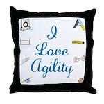 I Love Agility Throw Pillow