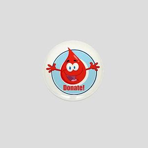 donate blood cartoon Mini Button