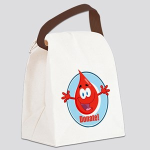 donate blood cartoon Canvas Lunch Bag