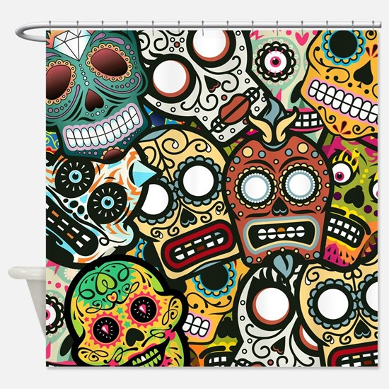 Day of the Dead Shower Curtain
