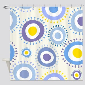 Cute Circles Pattern Shower Curtain