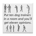 Dog Trainers Tile Coaster