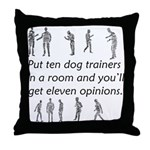 Dog Trainers Throw Pillow