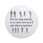 Dog Trainers Ornament (Round)