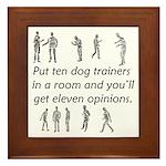 Dog Trainers Framed Tile
