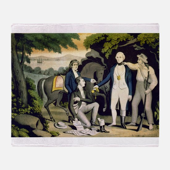 The Capture of Andre 1780 - 1845 Throw Blanket