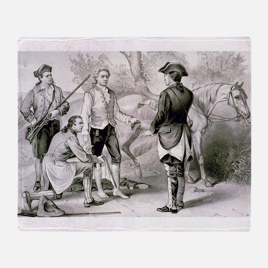 The capture of Andre - 1876 Throw Blanket