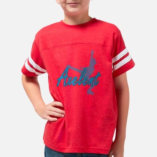 Black Axel Figure Skating T-S Youth Football Shirt