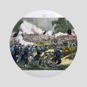 The battle of Gettysburg, Pa - 1863 Round Ornament