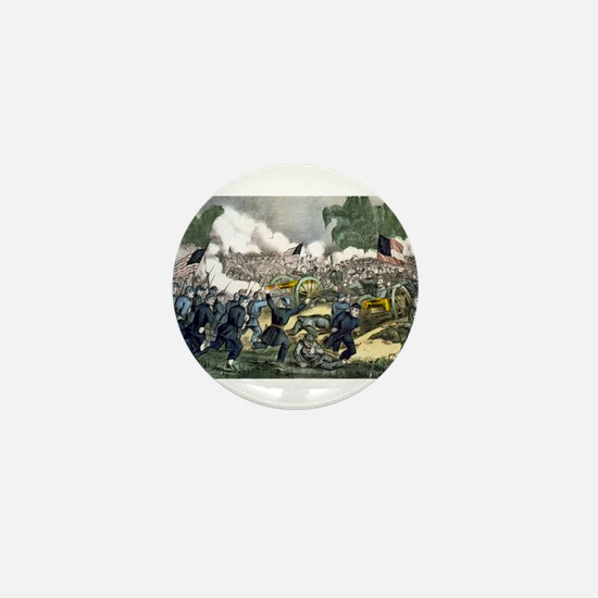The battle of Gettysburg, Pa - 1863 Mini Button