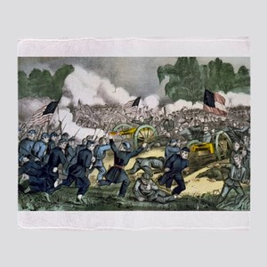The battle of Gettysburg, Pa - 1863 Throw Blanket