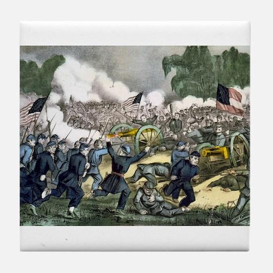 The battle of Gettysburg, Pa - 1863 Tile Coaster