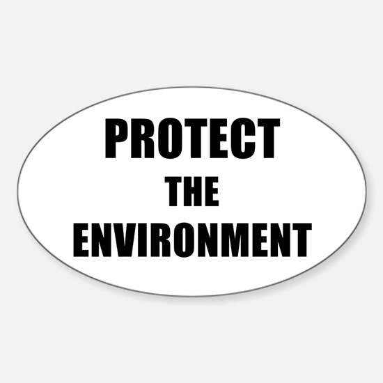 PROTECT THE ENVIRONMENT - black Decal