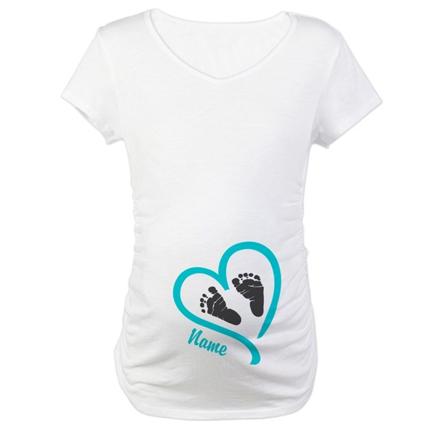 Baby heart blue personalized shirt by hotmommatees negle Gallery