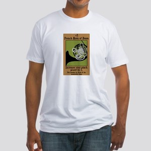 French Horn of Doom Fitted T-Shirt