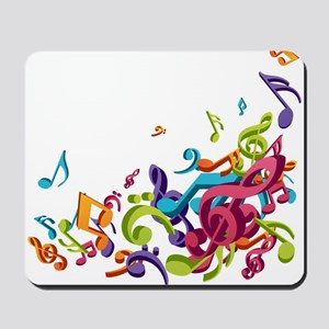 Music - Musician - Band - Music Notes Mousepad